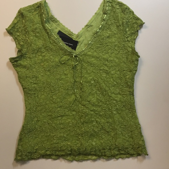 INC International Concepts Tops - 💕INC💕NWT💕SIZE XL GREEN Lace Over Green liner
